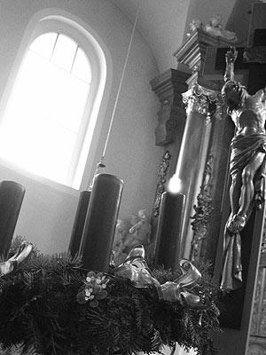 nivnický kostel 7.12.2003 … foto: V. Ondra