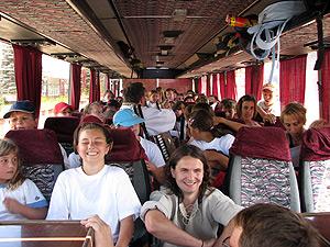 zpívání v busu ... 7.8.2009 ... foto: Villem
